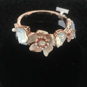 BETSEY JOHNSON Rose Gold Spring Bangle Bracelet